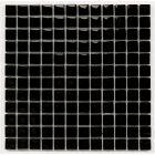 Kristalmozaiek 'Chrystal Black' 30 x 30 x 0.8 cm